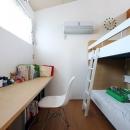 可愛らしいシンプルな子供部屋