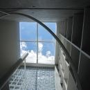 『小さな2世帯ハウス』美しく心が豊かになる玉手箱の写真 螺旋階段上部-トップライト