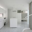 『小さな2世帯ハウス』美しく心が豊かになる玉手箱の写真 白で統一されたキッチン-1