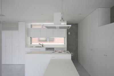 『小さな2世帯ハウス』美しく心が豊かになる玉手箱 (白で統一されたキッチン-2)