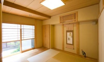 優しい光に包まれた和室 『YO.house』光と風が行き届く、優しさに包まれた住まい