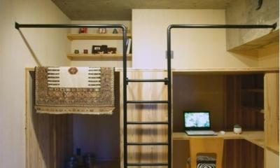 秘密基地のような子供部屋|『ハイサイはうす』素材感、質感を生かすマンションリノベ