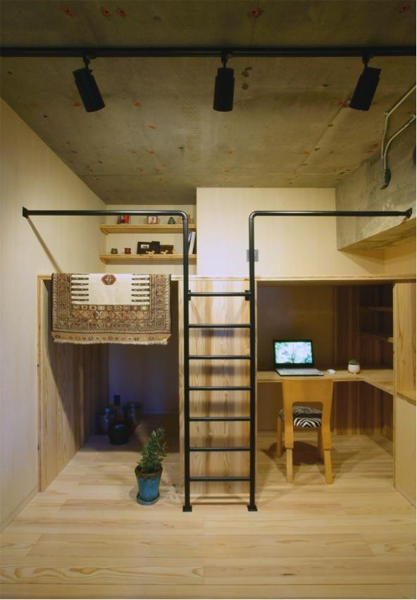 子供部屋事例:秘密基地のような子供部屋(『ハイサイはうす』素材感、質感を生かすマンションリノベ)