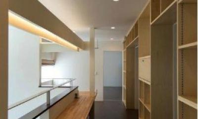 2階ホール-ワークスペース|『house @ tk』家族の絆を深めるモビリティハウス