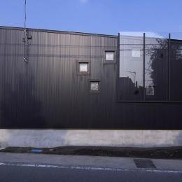 高崎T邸・正直素材仕上げの家 (シンプルな外観-南西側)