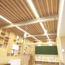 高崎T邸・正直素材仕上げの家の写真 化粧垂木天井のリビングダイニング