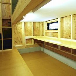 高崎T邸・正直素材仕上げの家 (下側に設置した子供室ロフト)