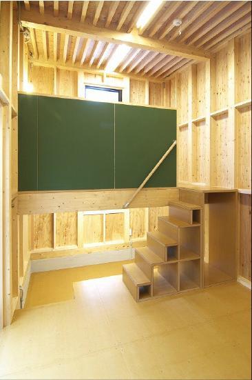 高崎T邸・正直素材仕上げの家の部屋 ロフト付きの主寝室