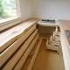 キッチン-造作収納 (『須田の家』雄大なロケーションに建つアトリエ付き平屋住宅)