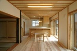 『木戸石の家』自然素材に囲まれた優しい住まい (自然素材に囲まれたLDK)