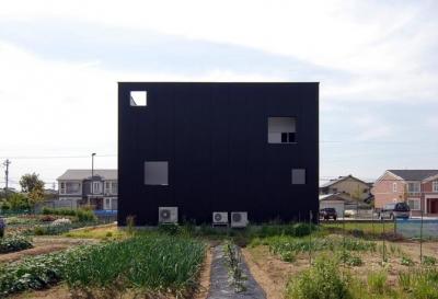 キューブ型の外観-4 (『TO-house』ジャケットを羽織った家)