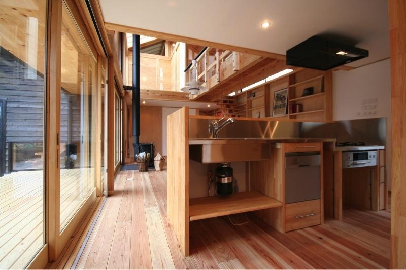 『すぎのいえ』生活を楽しむ工夫・遊び心をつめこんだ住まいの部屋 オリジナルキッチン