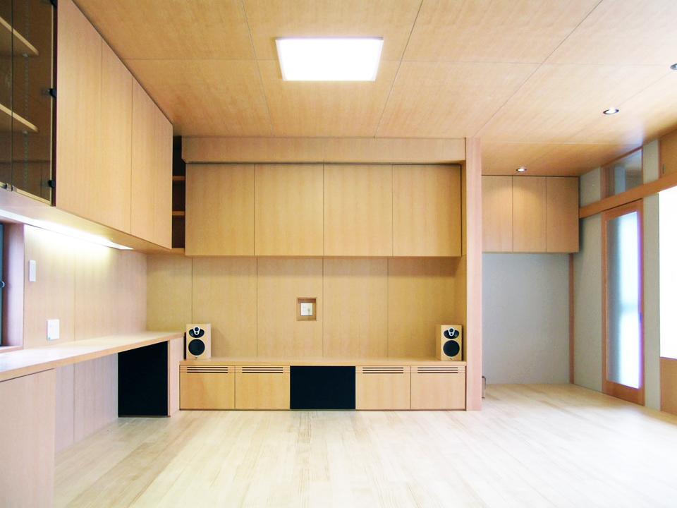 『楽しむ家』ホームシアター・サウナ・ブランコのある家の部屋 リビングシアター-1