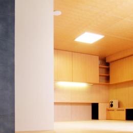 『楽しむ家』ホームシアター・サウナ・ブランコのある家 (リビングシアター-2)