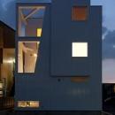 『SS-stadium』小さくても楽しくおおらかに暮らせる家の写真 外観夜景