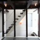 ロフトにつながる階段