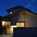 『蓬莱の家』独り暮らしと集まる家の写真 外観夜景