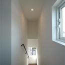 光の差し込む階段室-2