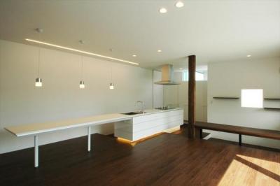『HOUSE M&S』シンプルモダンな二世帯住宅 (シンプルモダンなLDK)