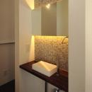 日野桂子の住宅事例「『HOUSE M&S』シンプルモダンな二世帯住宅」