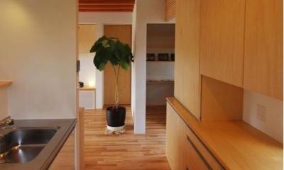 『伊左地の家』緑・光・風を感じる長期優良住宅 (明るいキッチン)