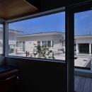 『凹[ou]』内と外の関係性を持つ住宅の写真 開放的な書斎