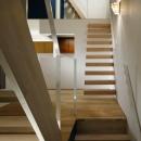 階段でつながる空間