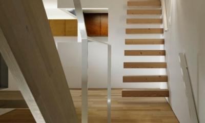 『big&small boxes』大きなハコの中に小さなハコをちりばめた家 (階段でつながる空間)