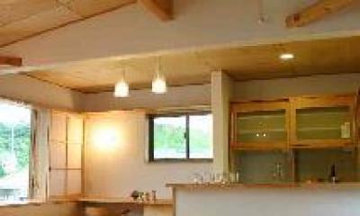 『和光の家1』木の質感溢れる温かな住まい (高天井のLDK)