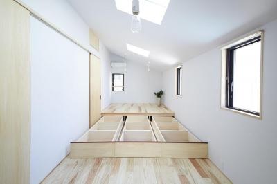 柳崎の住宅 (寝室〜床下収納〜)