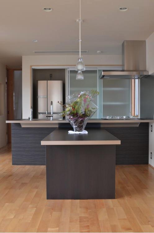 N邸・充実したアウトドア空間の写真 モダンなダイニングキッチン