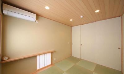 『坂の家』柔らかでナチュラルな住まい (シンプルな和室)