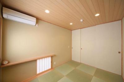 シンプルな和室 (『坂の家』柔らかでナチュラルな住まい)