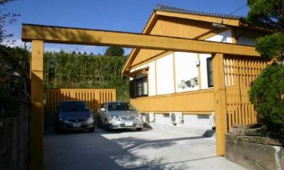 YG邸・木の温もりを感じる和風住宅 (外観-駐車スペース)