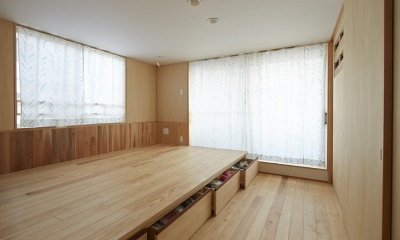 前川の住宅 (寝室)