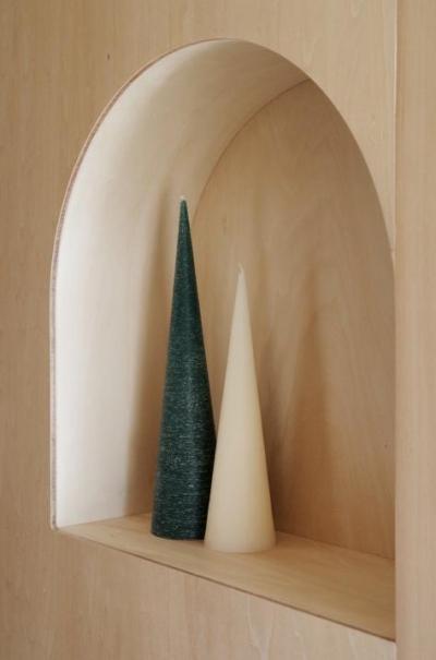 『人とモノの小さな居場所』小さな空間を緩やかにつなぐマンションリノベ (アーチ型のニッチ)