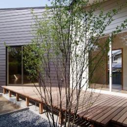『稜線の家』様々な風景と居場所を生み出す平屋住宅 (心地よいデッキテラス)