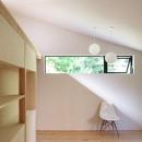 ライトコートより光の差し込む寝室-2