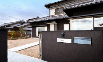 和風モダンな外観|K邸・眺望を楽しむ家、耐震補強リノベーション