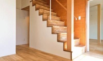 K邸・眺望を楽しむ家、耐震補強リノベーション (開放的な玄関ホール)