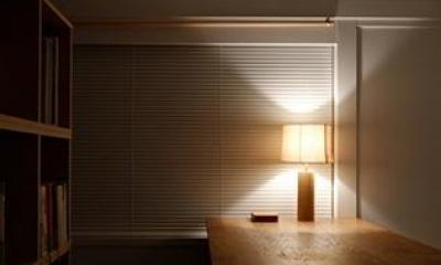 『上足洗の家』豊かな住まい、居心地の良い住まいへリノベーション (落ち着きのある書斎)
