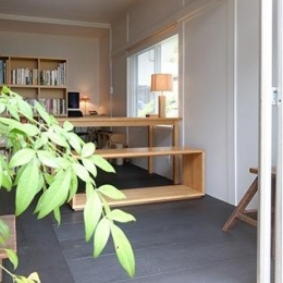 『上足洗の家』豊かな住まい、居心地の良い住まいへリノベーション (光と風を取り込む書斎)