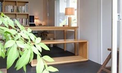 光と風を取り込む書斎|『上足洗の家』豊かな住まい、居心地の良い住まいへリノベーション