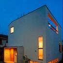 『ハラッパ』絶景の眺めを楽しめる草屋根のある家の写真 外観夜景