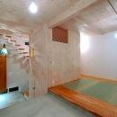 土間と一体になる畳室