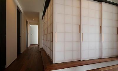 『NKK』パティオのある上質なモダン住宅 (和室-closed)