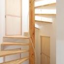 コンパクトな階段室
