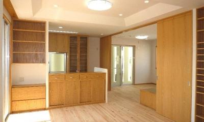 『H-house』自然素材の二世帯住宅 (子供室と一体になる2階LDK)
