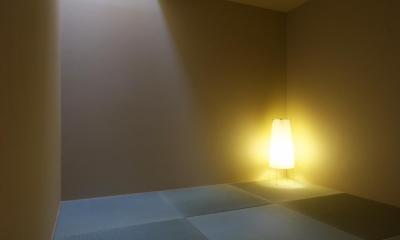 『蒲郡・西浦の家』時間がゆったり流れる寛ぎの平屋住宅 (和室-落ち着いた空間)