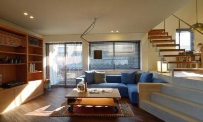 スタイリッシュなリビング|『名古屋・瑞穂区の家』不思議な奥行感のある住宅